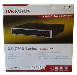 Hikvision Ds-7716ni-i4/16p 16ch Embedded 4k Nvr Network Video Recorder, Anglais
