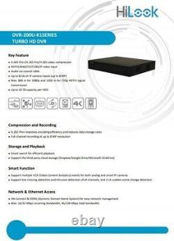 Hilook Hikvision 4 8 16ch Uhd Dvr 5mp 8mp Cctv Digital Video Recorder Remot Voir