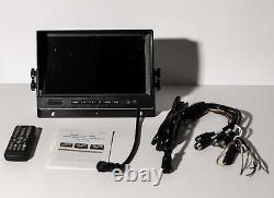 Icustodian Ic7100ldc-mdvr Hybride 1080p Hd 9 LCD Screen Video Recorder 4 Caméra