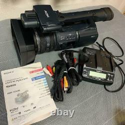 Junk Sony Hdr-fx1000 Hdv Handycam Digital Hd Video Camera Recorder W / Câbles