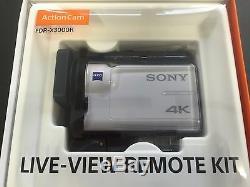 Kit De Télécommande Fdr-x3000r Du Caméscope Sony Action Cam Numérique 4k