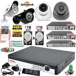 Kit Système De Sécurité Pour Enregistreur Vidéo Numérique Smart Cctv Dvr 4/8/16 Canaux + 1/2 Disque Dur