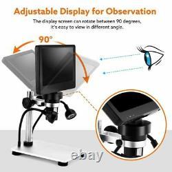 Microscope Numérique Usb Hd LCD 7 Pouces Avec Loupe Et Enregistreur Vidéo 1200x