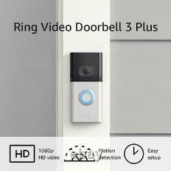 Mint Ring Video Doorbell 3 Plus Caméra D'enregistrement De Sécurité De Bell De Porte Pré-roulis
