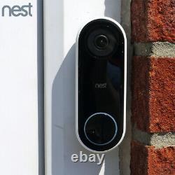 Nest Hello Video Doorbell Hd Smart Wifi Caméra De Sécurité Avec Vision Nocturne Nc5100us