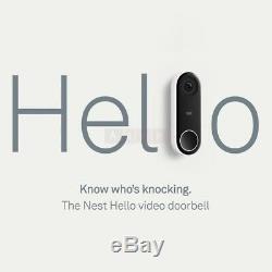 Nest Nc5100gb Bonjour Vidéo Sonnette Enregistrement Vidéo Et Capteur De Mouvement Noir