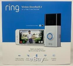 New Video Ring 2 Sonnette Avec Vidéo Hd, Activé Par Le Mouvement Alertes Facile Installé