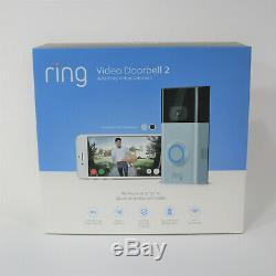 New Video Ring 2 Sonnette Sans Fil Hd 1080p Sécurité Cam Nickel / Bronze