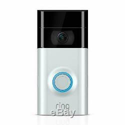 New Video Ring 2 Sonnette Vidéo Hd Wi-fi Bidirectionnelle Discuter De Détection De Mouvement Au Royaume-uni Stock