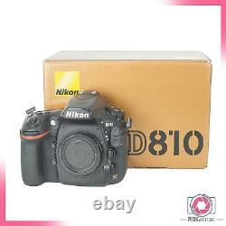 Nikon D810 Digital Slr Camera Body Faible Nombre D'obturateur