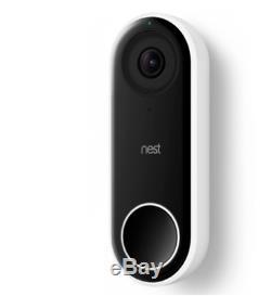 Nouveau Google Nest Nc5100us Bonjour À Puce Wi-fi Hd Vidéo Sonnette Caméra De Sécurité