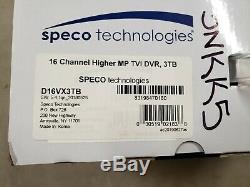 Nouveau Speco Technologies D16vx3tb Enregistreur Vidéo Numérique, Les Canaux Tb 16,3
