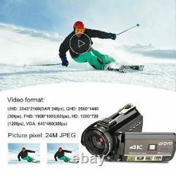 Ordro Ac3 4k Wifi Caméra Vidéo Numérique Camcorder 24mp 30x Zoom Ir DV Enregistreur
