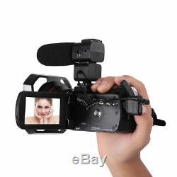 Ordro Ac3 4k Wifi Caméscope Numérique Caméra Vidéo 24mp 30x Zoom Ir Enregistreur DV Ch
