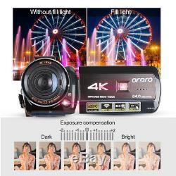 Ordro Ac3 4k Wifi Caméscope Numérique Caméra Vidéo 24mp 30x Zoom Ir Wn Recorder
