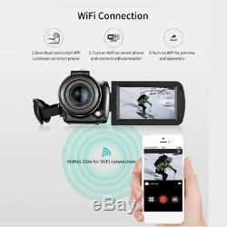 Ordro Ac5 4k Wifi Caméra Numérique Appareil Photo Enregistreur Vidéo DV 24mp 3,1 Pouces D3i2