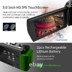 Ordro Hdv-ae8 4k Wifi Caméra Vidéo Numérique Caméscope DV Recorder 30mp 16x U5t9