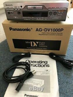 Panasonic Ag-dv1000p Mini-dv Magnétoscope Numérique Enregistreur Vidéo Cassette