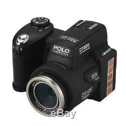 Polo D7200 33mp Hd 1080p Appareil Photo Numérique 3 Objectif + Led Reflex Numérique Enregistrement Vidéo