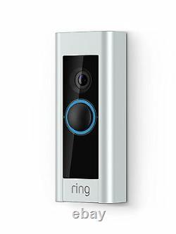 Ring Video Doorbell Pro 1080p Caméra De Sécurité En Direct Infrarouge Record Two-way Talk