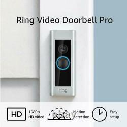 Ring Video Doorbell Pro Hardwired 1080p Hd (flambant Neuf)