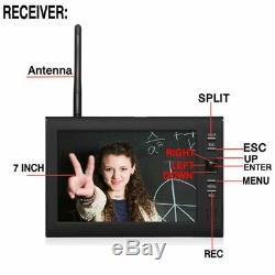 Sans Fil Caméra De Surveillance Dvr LCD 4 Système De Sécurité Vidéo Numérique Extérieur Moniteur 7