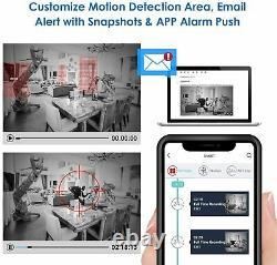 Smart Cctv Dvr Enregistreur 5mp 4/8/16 Chaîne Ahd Vidéo Hd Système De Caméra 4k Hd Uk