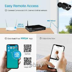 Smart Cctv Système Dvr Enregistreur Vidéo 4 Caméras D'extérieur Hd Maison Sécurité Wifi Royaume-uni