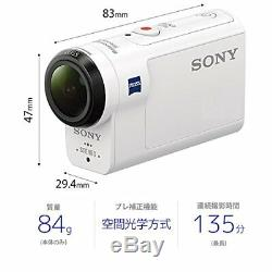 Sony Digital Hd Video Camera Recorder Cam Action Domest Hdr-as300 Esprit Du Corps Blanc