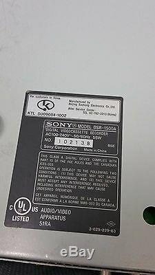 Sony Dsr-1500a Dvcam Enregistreur Cassette Numérique Montage Pont Drum 0122