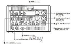 Sony Dsr-1500a Dvcam Plate-forme + Analogique Carte D'entrée A / V! Tambour 930 Heures Numérique
