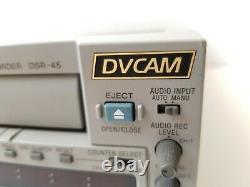 Sony Dsr-45 Dvcam Digital Video Recorder & Player Minidv Xlr Out Firewire Port