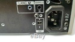 Sony Enregistreur De Cassette Vidéo Numérique Dsr-25 Dvcam 26x10 Heures Tambour Ntsc Pal