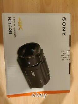 Sony Fdr-ax43 4k Ultra Hd Digital Video Camera Recorder Caméscope Noir Currys