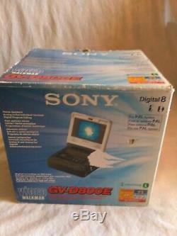 Sony Gv-d800e Digital 8 Vidéo Magnétophone 4lcd Moniteur Pal, Hi8, Ntsc Pb, 8 MM