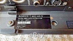 Sony Montage Vidéo Enregistreur Cassette Numérique Sony Dsr-70 Dvcam Dual