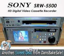 Sony Srw-5500 Hd Cam Sr Digital Video Recorder Cassette Juste Entretien