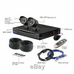 Swann Dvr4-3450 4 Canaux 960h Enregistreur Vidéo Numérique Hd 500go 2x Caméra Pro-735