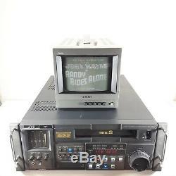 Testé Enregistreur Sur Cassette Vidéo Jvc Br-d85u Composant Vtr De L'éditeur Digital S 422