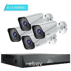 Überwachungskamera 1080p Hd 8ch Dvr Enregistreur Cctv Ip Kamera Vidéo Pir Nachtsicht