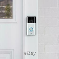 Video Ring 2 Sonnette 8vr1s7-0eu0 1080p Vidéo Batterie Rechargeable Alexa Support