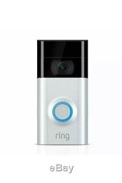 Video Ring 2 Sonnette Caméra Nickel Wifi 1080 Sans Fil Hd Brand New Sealed