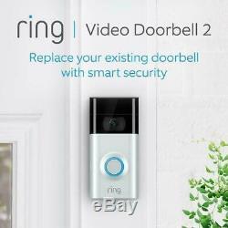 Video Ring 2 Sonnette Full Hd 1080p Avec Détection De Mouvement Chime, Wi-fi Connected