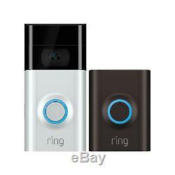 Video Ring 2 Sonnette Vidéo Hd Wi-fi Bidirectionnelle Discuter De Détection De Mouvement