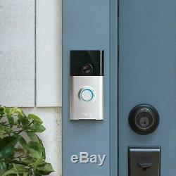 Video Ring Sonnette 2 Wi-fi Vidéo Hd Bidirectionnelle Discuter De Détection De Mouvement De Sécurité Nouveau