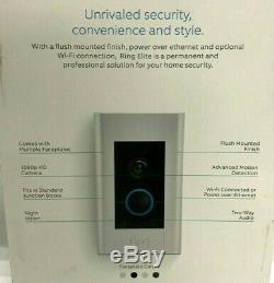 Video Ring Sonnette Elite 1080hd Power Over Ethernet, 8vr1e7-0en0