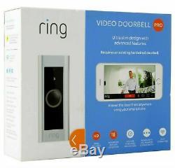 Video Ring Sonnette Pro Avec Transformateur, Carillon Non Inclus