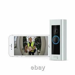 Video Ring Sonnette Pro Kit Hd 1080p, Deux Voies Talk, Wi-fi, De Détection De Mouvement