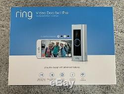Video Ring Sonnette Pro Wifi 1080p Caméra Hd Brand New Scellé En Usine