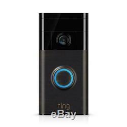 Video Ring Sonnette Wi-fi Activé Works Caméra Hd Avec Alexa Venetian Bronze Nouveau